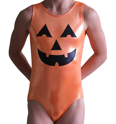 Pumpkin Face Leotard - AERO Leotards