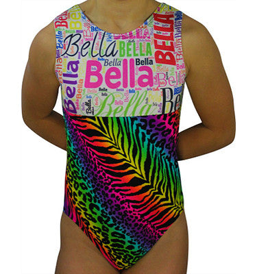 Personalized Subway Art Name Leotard