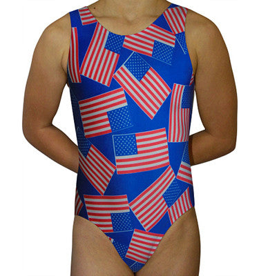 USA Flags Leotard - AERO Leotards
