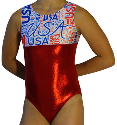 USA Patriotic Gymnastics Leotard by AERO Leotards