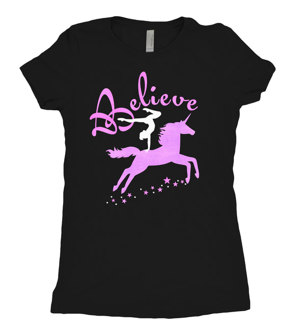 Tee Shirt - Unicorn Believe - AERO Leotards