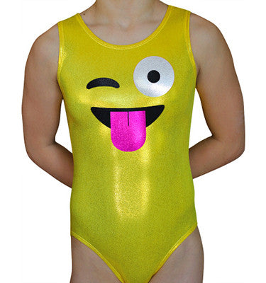 Emoji Fun Leotard - AERO Gymnastics Leotards
