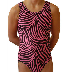 Pink Zebra Leotard - AERO Leotards