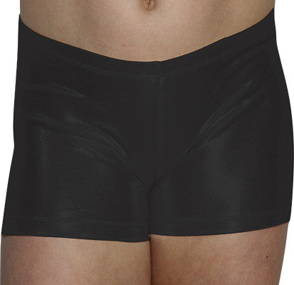 Black Mystique Shorts - AERO Leotards