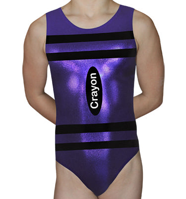 Purple Crayon Leotard - AERO Leotards