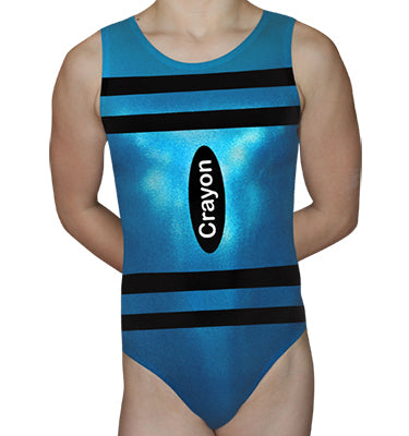 Aqua Crayon Leotard - AERO Leotards