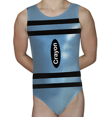 Light Blue Crayon Leotard - AERO Leotards