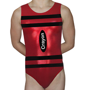 Red Crayon Leotard - AERO Leotards