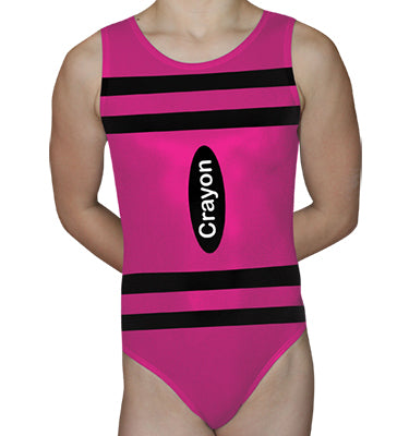 Pink Crayon Leotard - AERO Leotards