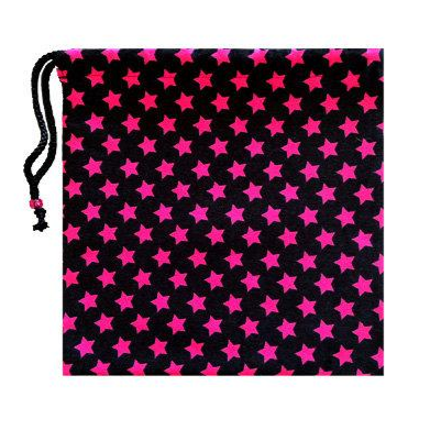 Black with Pink Stars