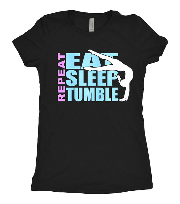 Tee Shirt - Eat Sleep Tumble Repeat - AERO Leotards