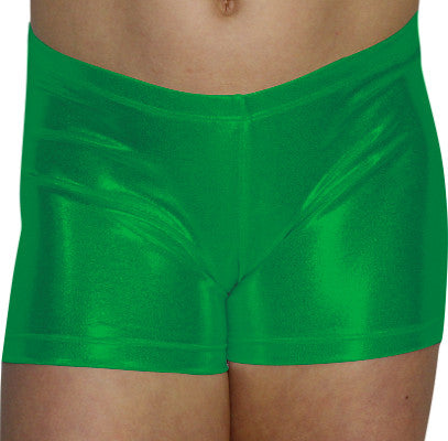 Green Mystique Shorts - AERO Gymnastics Leotards