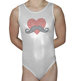 Sequin Heart Mustache Leotard - AERO Leotards