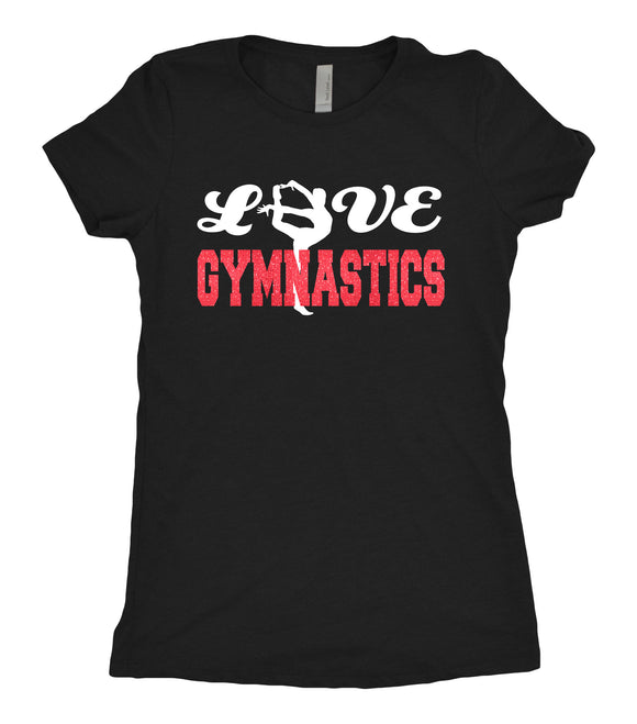 Tee Shirt - Love Gymnastics - AERO Leotards