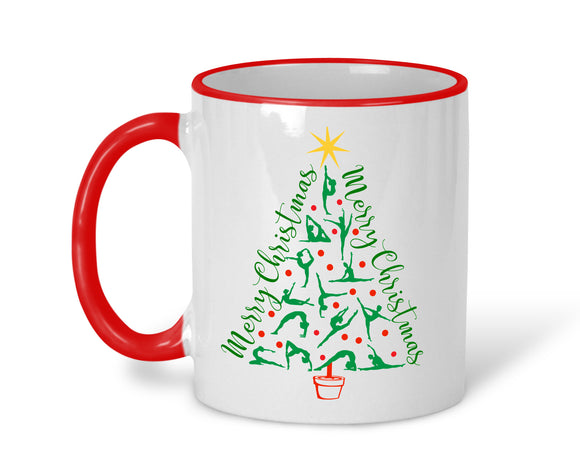 Gymnast Christmas Tree Mug