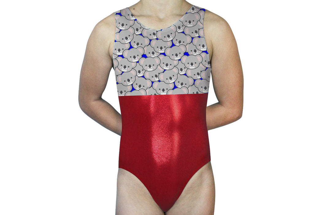 Koalas Gymnastics Leotard Girls Toddlers Kids Teen Dance Ballet Gymnast Custom Bodysuit Leo - Koala Bears - AERO Leotards