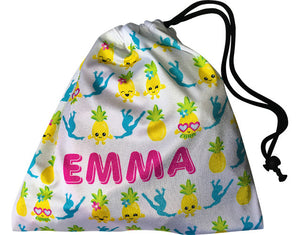 Personalized Kawaii Pineapple Grip Bag - AERO Leotards