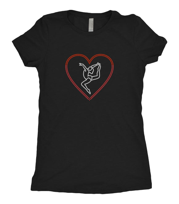Tee Shirt - Gymnast in Heart - AERO Leotards