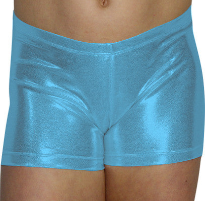 Baby Blue Mystique Shorts - AERO Leotards