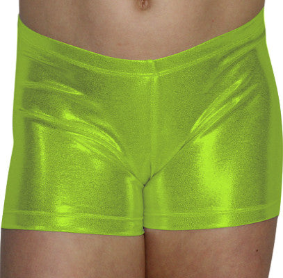 Lime Mystique Shorts - AERO Leotards