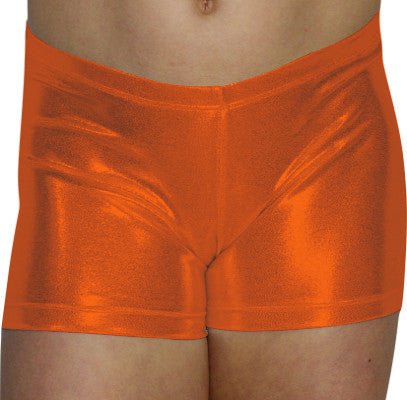 Orange Mystique Shorts - AERO Leotards