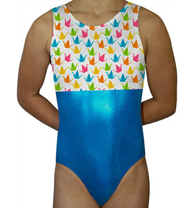 Japanese Origami Paper Cranes Leotard by AERO Leotards
