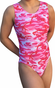 Camouflage Leotard - Pink - AERO Leotards