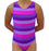 Pink & Purple Stripes Leotard - AERO Leotards