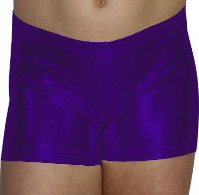 Purple Mystique Shorts - AERO Leotards