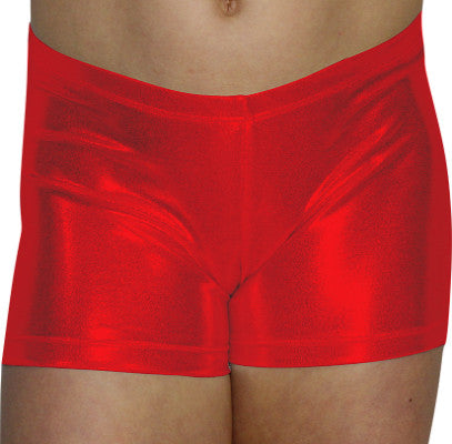 Red Mystique Shorts - AERO Leotards
