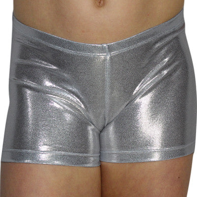 Silver Mystique Shorts - AERO Leotards