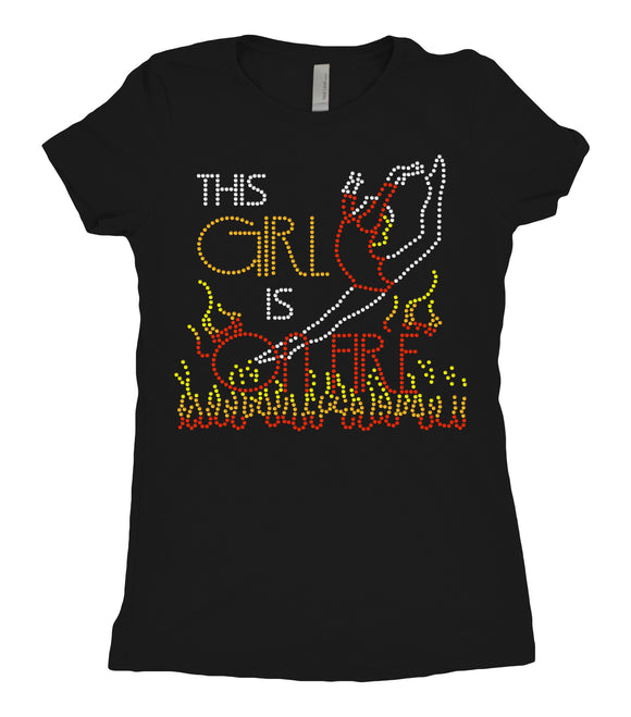 Tee Shirt - Girl on Fire - AERO Leotards