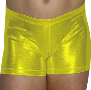 Yellow Mystique Shorts - AERO Leotards