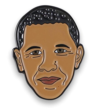 Barack Obama Enamel Lapel Pin - Akili Kabibe Apparel