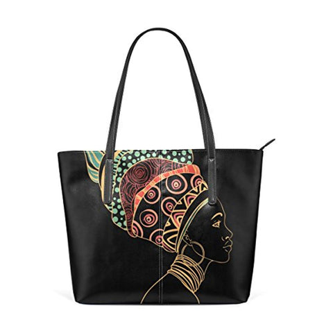 JSTEL African Woman Tote Bag - Akili Kabibe Apparel