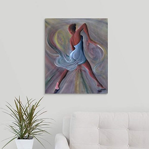"Blue Dress Ikahl Beckford Premium Thick-Wrap Canvas Wall Art  20""x24"" - Akili Kabibe Apparel"
