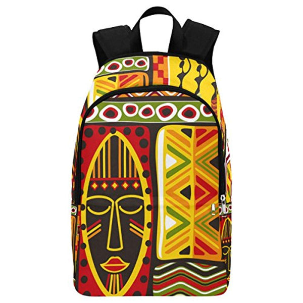 African Mask Backpack - Akili Kabibe Apparel