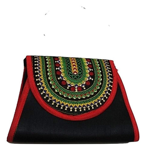 Sheba Embroidered Crossbody Clutch Handbag - Akili Kabibe Apparel