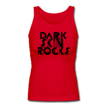 Dark Skin Rocks Fitted Tank Top - Akili Kabibe Apparel