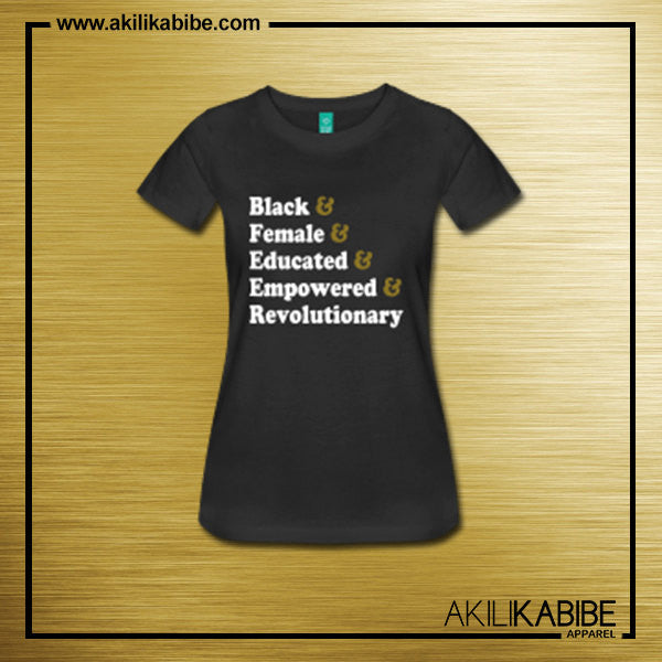 Traits of the Black Woman Fitted T-Shirt - Black - Akili Kabibe Apparel