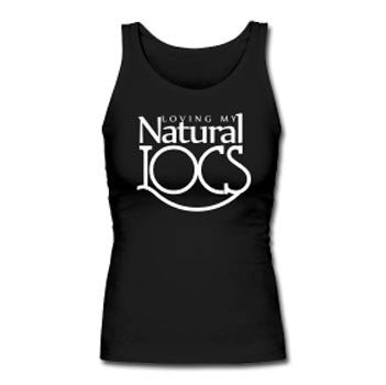 Loving My Natural Locs Women's Premium Tank Top - Black