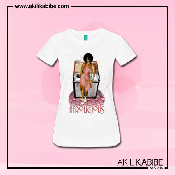 Afrolicious Natural Hair Women's Fitted T-Shirt