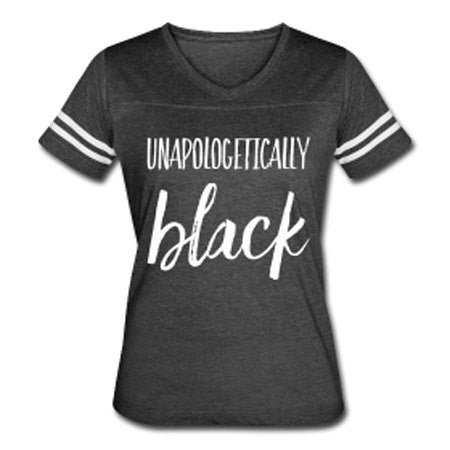 Unapologetically Black Vintage Sports T-shirt -  White/Gray