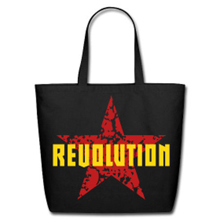 Revolution Natural Cotton Canvas Tote - Black