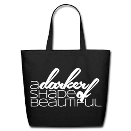 A Darker Shade of Beautiful Natural Cotton Canvas Tote - Black - Akili Kabibe Apparel