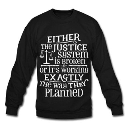Justice System Design Women's Crew Neck Sweatshirt - Black - Akili Kabibe Apparel