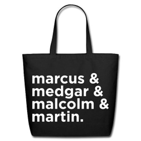 Black Revolutionaries Natural Cotton Canvas Tote - Black