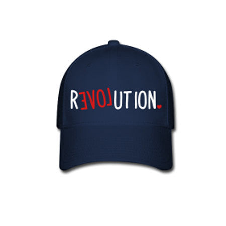 rEVOLution Flex Fit Baseball Cap - Navy - Akili Kabibe Apparel