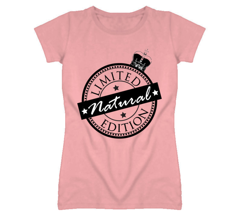 Limited Edition Natural Women's Fitted T-shirt - Pink - Akili Kabibe Apparel