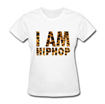 I Am Hip-Hop Women's Relaxed Fit T-shirt - White - Akili Kabibe Apparel